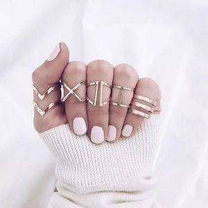 💕Boho 5 piece ring set